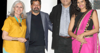 Aroon Shivdansai, Executive and Artistic Director, IAAC, Bardroy Baretto, director, Aseem Chhabra, NYIFF festival director, Palomi Ghosh, lead actress Photo:-Jay mandal/On Assignment