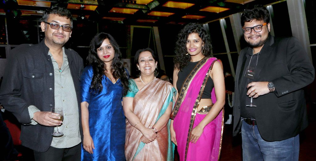 From left, Filmmaker, Spandan Banerjee, story & screen play writer, Rupleen Bose, Consul general of India to New York, Amb Riva Ganguly Das, Actress Palomi Ghosh and Film Director Pratim D Gupta at 2016 New York Indian Film Festival (NYIFF) in New York. Photo:-Jay Mandal/On Assignment