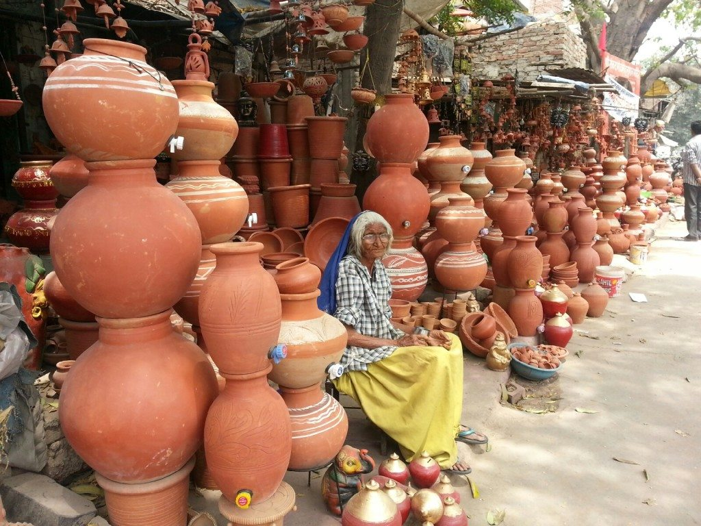Watching over the clay pots in Saket - Photo: Lavina Melwani