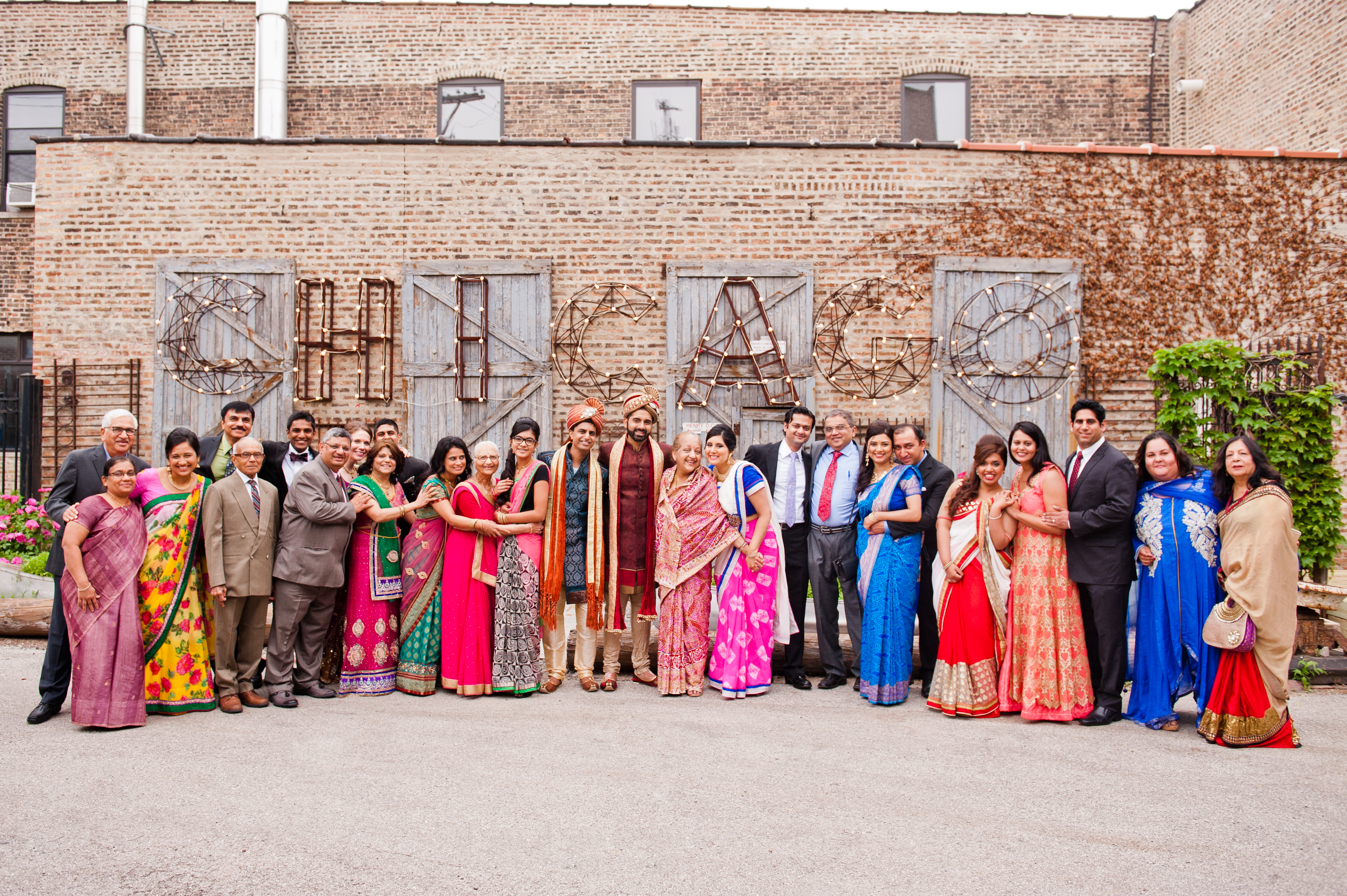 The Big Fat Indian Wedding! Friends and family celebrate.#Gaypride