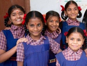 Students at Ekalavya School in Hyderabad