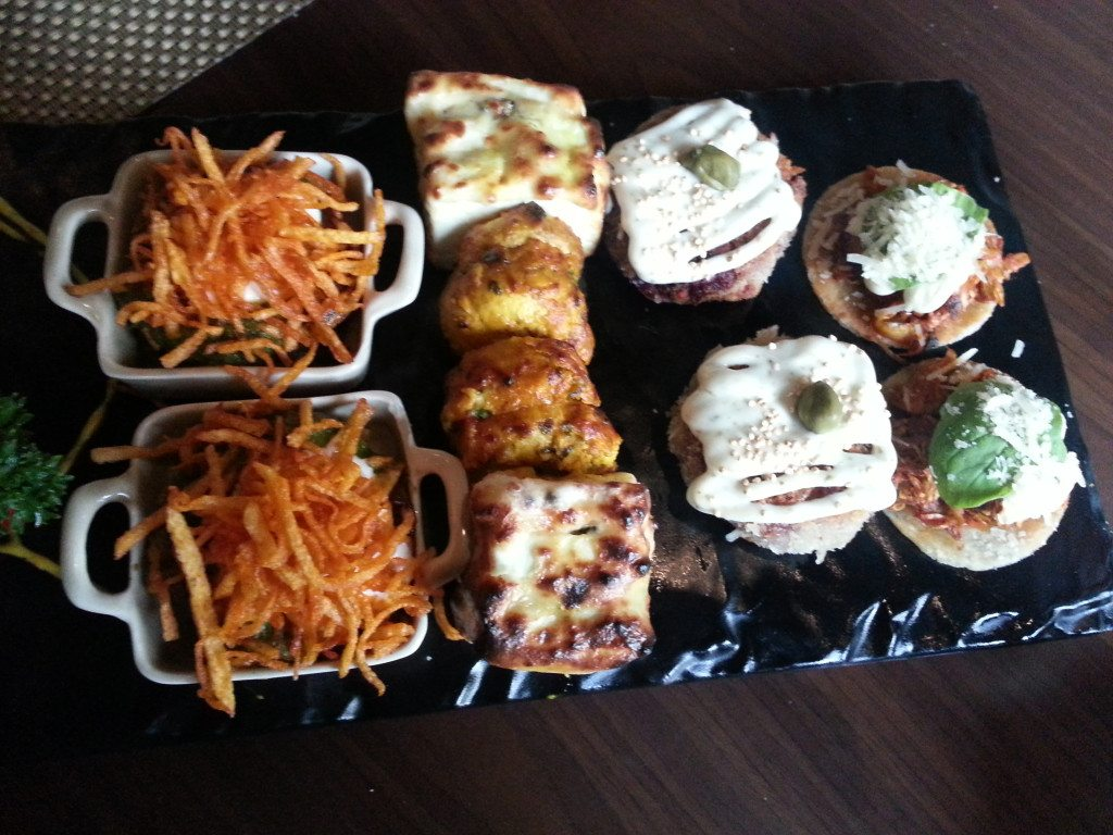 Vegetarian appetizers at Masala House