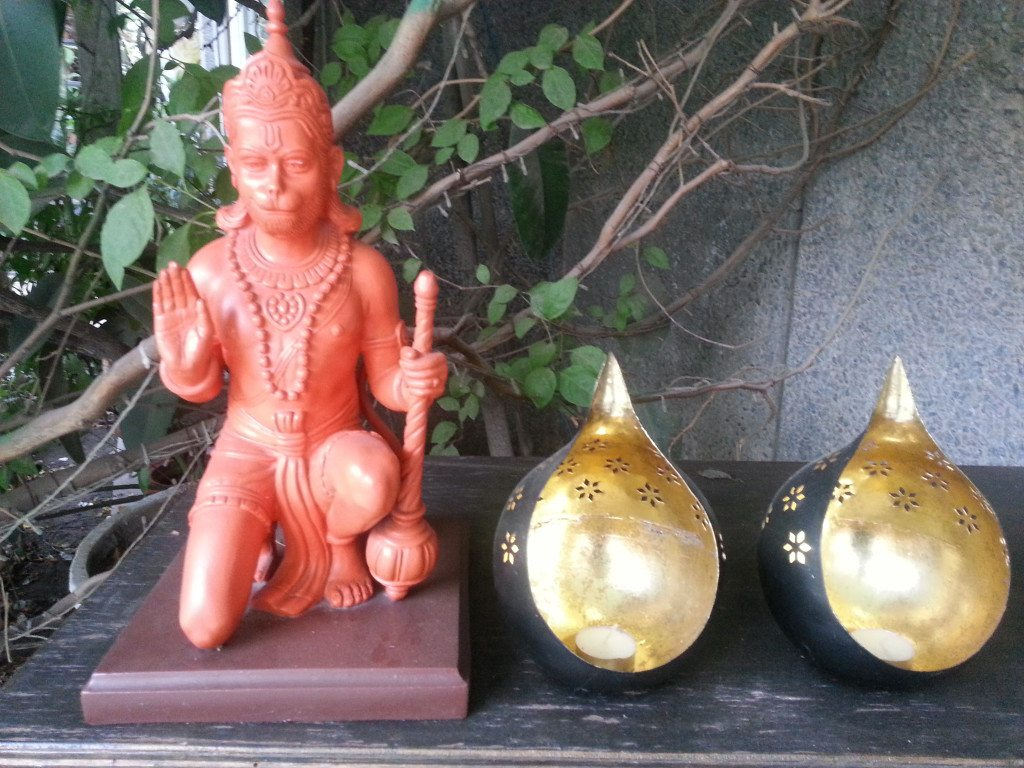 Hanuman shrine in a private garden