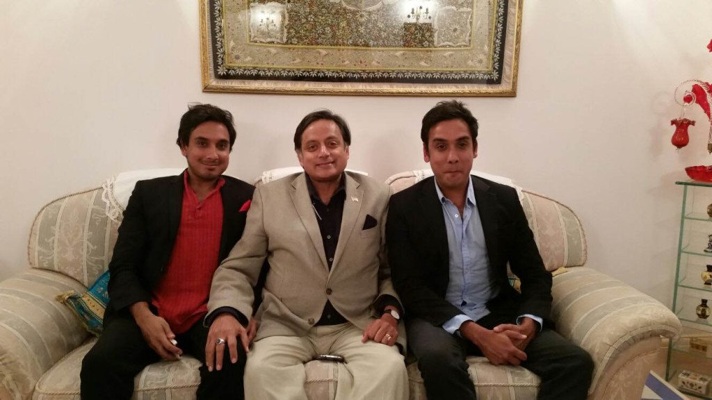A trio of Tharoors: Kanishk, Shashi and Ishaan