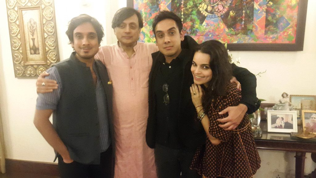 Ishaan, Shashi, Kanishk and Amanda Tharoor
