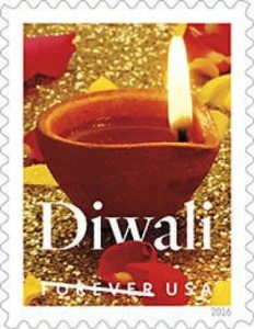 The Forever Stamp issued for Diwali
