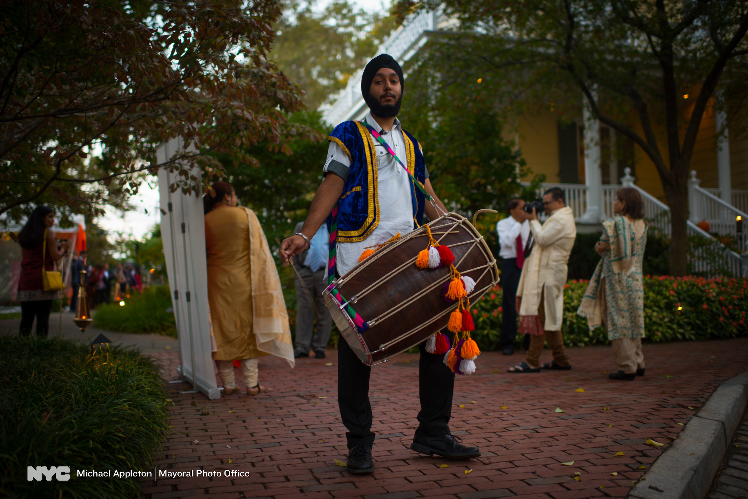 What's a celebration without a dhol player? (Michael Appleton/Mayoral Photography Office)