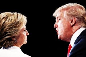 Hillary Clinton; Donald Trump (Credit: Getty/Joe Raedle/Photo montage by Salon)