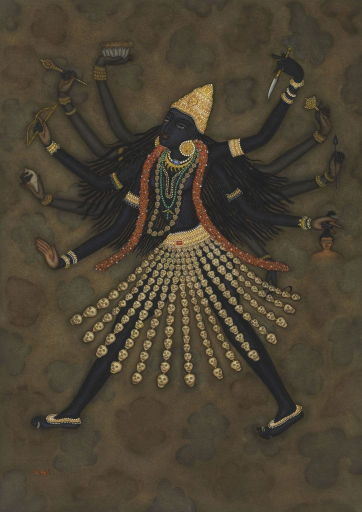 Y.G. Srimati, Indian, 1926 – 2007 Mahakali New York, 1980 Watercolor on paper 29 ¼ in. x 21 7/8 in. The Metropolitan Museum of Art, New York, Gift of Michael Pellettieri, in memory of Y.G. Srimati, 2009 (2009.211) Photo: © 2009 M. Pellettieri