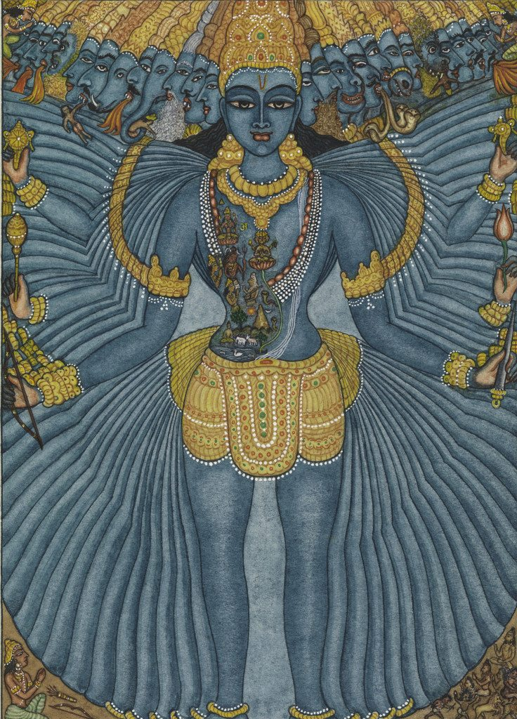 Vishvarupa Chennai, 1961 Watercolor on paper 7 in. x 5 in. Lent by Michael Pellettieri Photo: © 1964 George Macy Co. Limited Editions Club