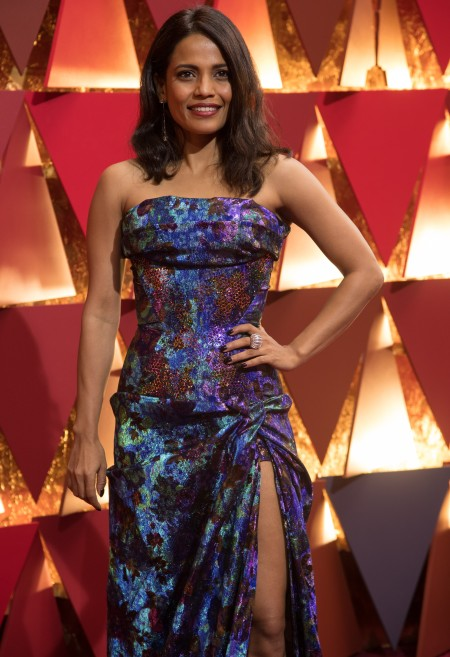 Priyanka Bose supports Red Carpet Green Dress at the Oscars