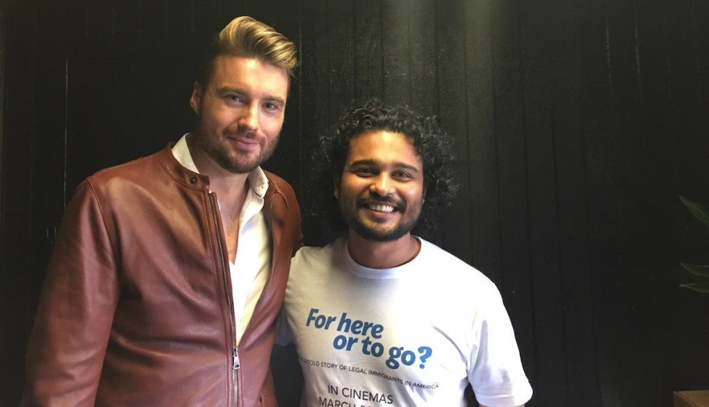Mashable CEO Pete Cashmore with Rishi Bhilawadikar