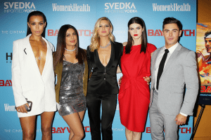 "New York, NY - 5/22/17 A Special New York Screening of Paramount Pictures ""Baywatch"" ..- Pictured: IIfenesh Hadera,Priyanka Chopra,Kelly Rohrbach,Alexandra Daddario and Zac Efron.- Photo by: Dave Allocca/Starpix.-Location: Landmark Sunshine Cinema"