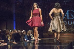 Mac Duggal Models on the runway