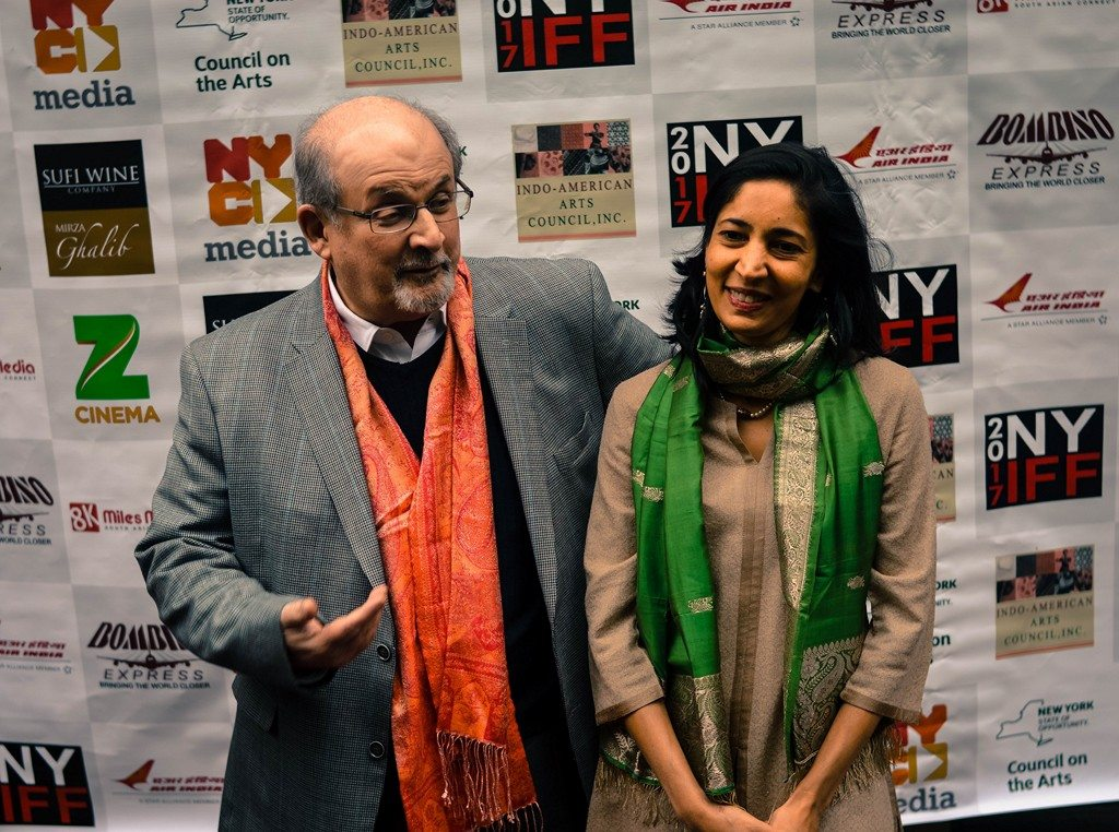 Salman Rushdie with Kiran Desai at NYIFF