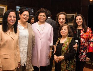 Chandrika Tandon with CHI board members