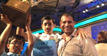 With Prodigy Arvind Mahankali at his win in Scripps National Bee