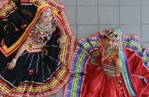 The Kalbelia (Rajasthani Folk) dancers of Bolly Pop La - Aakansha Maheshwari and Malini Taneja. Kalbelia is a folk dance from the state of Rajasthan in western India.