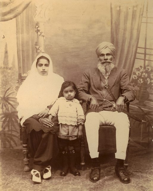 Boota Singh Bal with daughter and grand-daughter