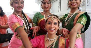 Dressed to dance for Ganesha