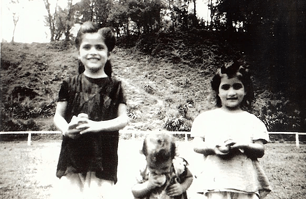 Sarab and sisters in British boarding school in Mussoorie