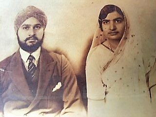 Sardar Jagjit Singh and Ravel Kaur in 1934