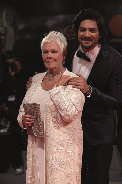 Judi Dench and Ali Fazal at the premiere of 'Victoria and Abdul'