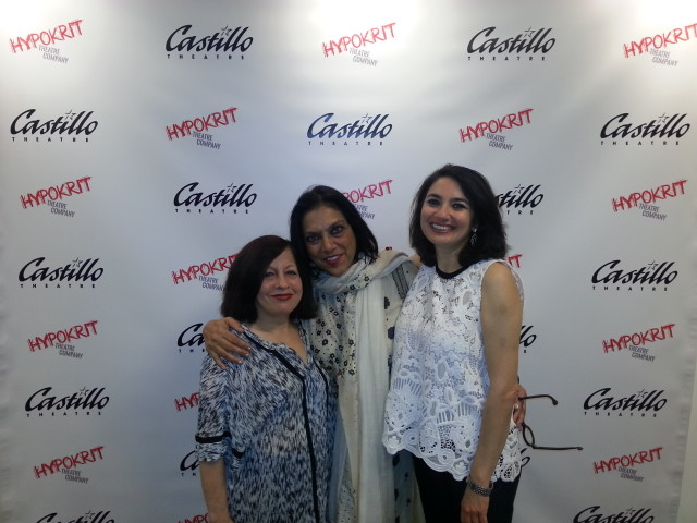 Writer Lavina Melwani with Mira Nair and Zenobia Shroff