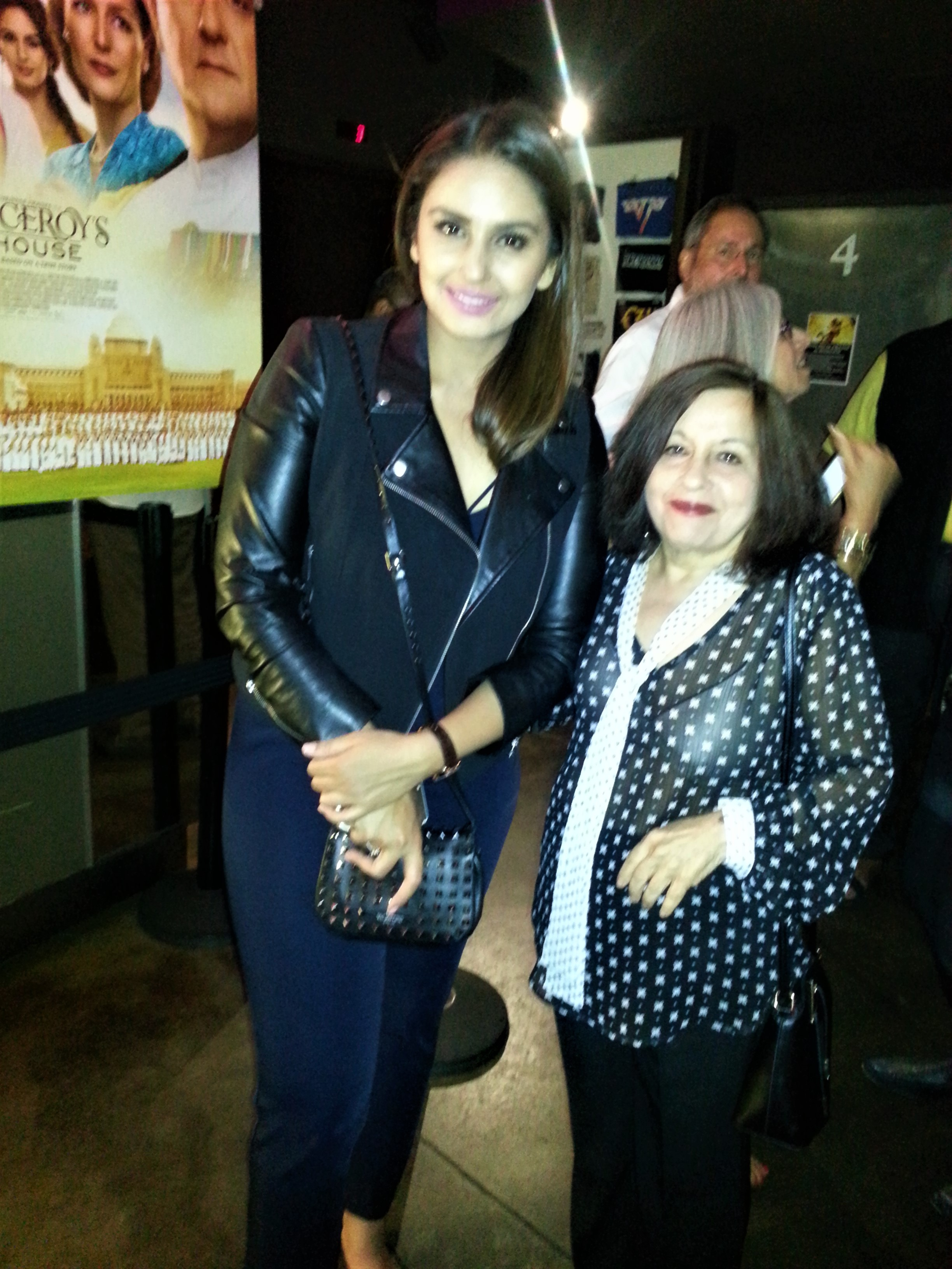 At the Viceroy's House afterparty: Huma Qureshi & Lavina Melwani