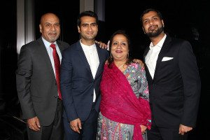 "Special Screening of Amazon's ""THE BIG SICK"" - Afterparty. kumail Nanjiani with family"