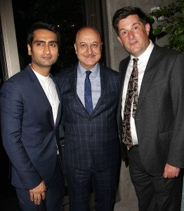 Kumail Nanjiani, Anupam Kher and Michael Showalter (Director) -Photo by: Kristina Bumphrey/StarPix
