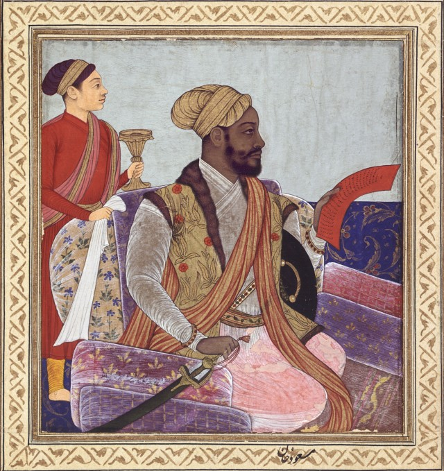 Ikhlas Khan of Bijapur commander- in-chief and minister of finances under Sultan Ibrahim Adil Shah II and his son and successor, Muhammad Adil Shah by Muhammad Khan, mid-17th century. Edwin Binney III Collection. San Diego Museum of Art.