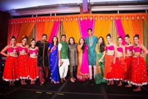Mira Nair with the cast of Monsoon Wedding & the Sa Dancers
