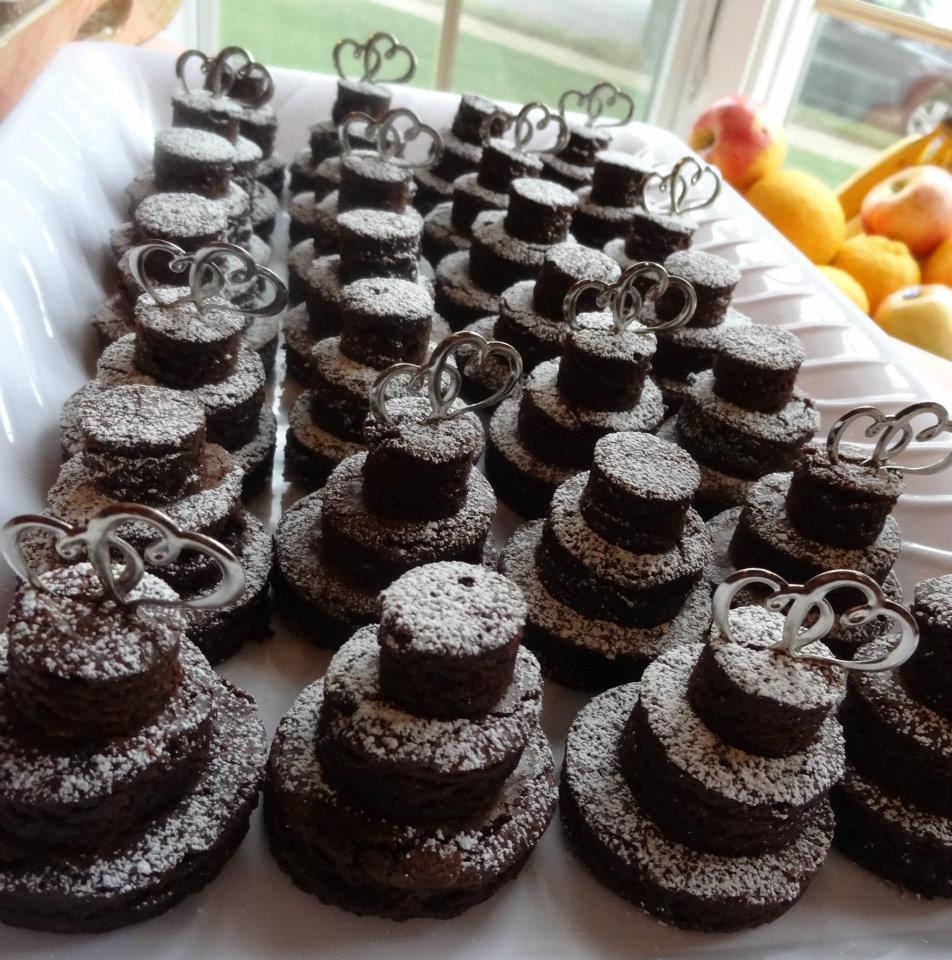 Chocolate Brownie Wedding Cakes